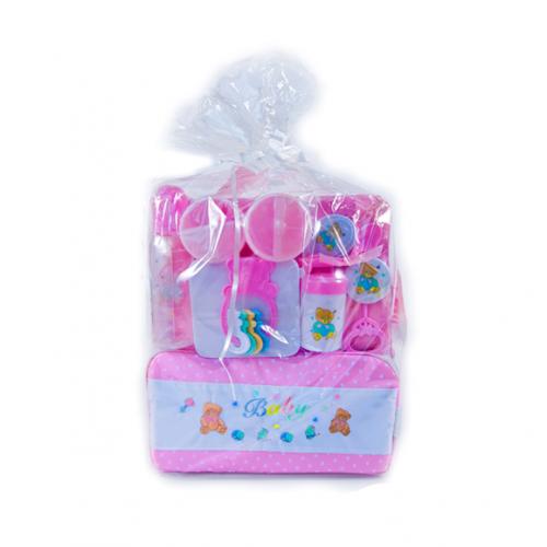 Oshi Baby Essentials 16 Piece Diaper Bag Feeding Gift Set - Newborn