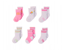 Big Oshi Baby Socks, 6-Pack