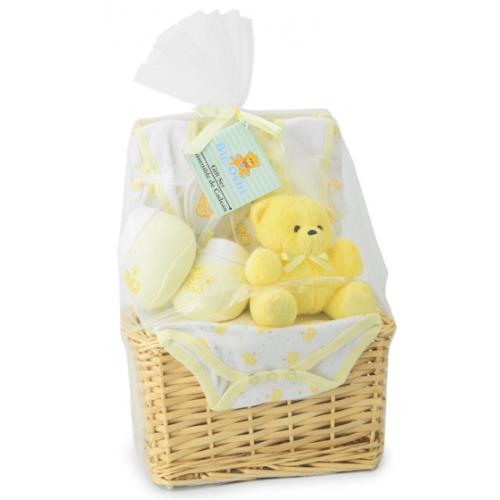 Baby Gift Basket Essentials : Big oshi baby essentials piece layette basket gift set