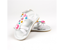 Big Oshi White Girls Sandals