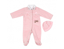 Big Oshi Baby Velour Footie Sl