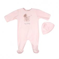 Big Oshi Baby Velour Footie Sleeper